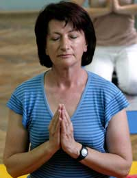 Meditation Meditating Yoga Menopause Hot